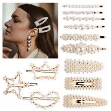 1Set 2019 Hot Sale Ins Fashion Elegant Pearl Hair Clips Hairpins Barrettes BB Headmade Headwear Accessories for Women Girls