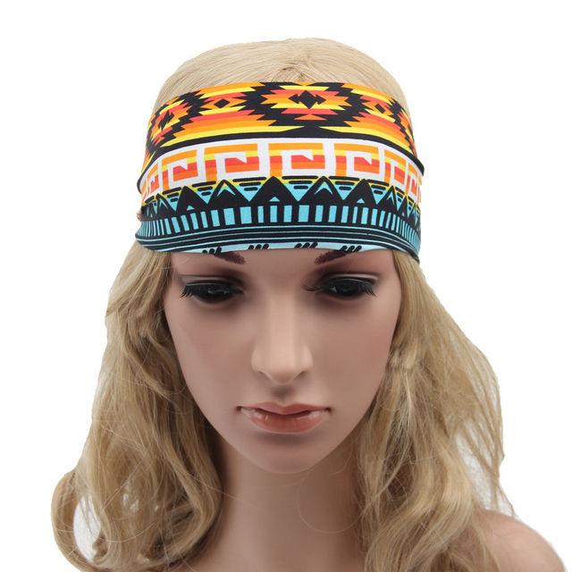 2f8e5b1a82f 1PC 2018 Fashion Elastic Cotton Hair Band Floral Boho Turban New Women s  Wide Sports Yoga Headband Stretch Hairband Wholesale