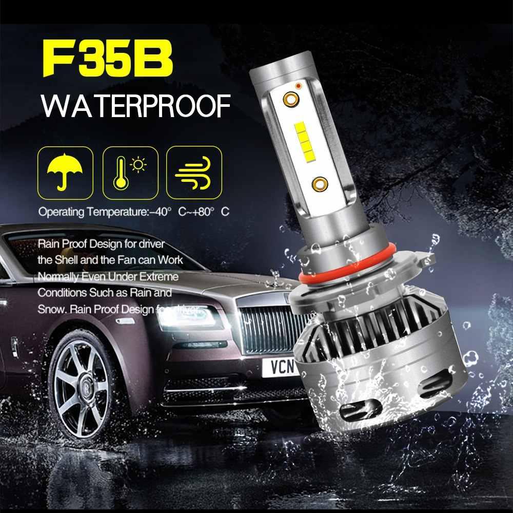 JGAUT Car Lights Automobiles Mini H4 H7 LED H11 H8 9006 9012 bulb H1 9005 D2 canbus Headlights 12V 72W 10000LM Error Free 6000K