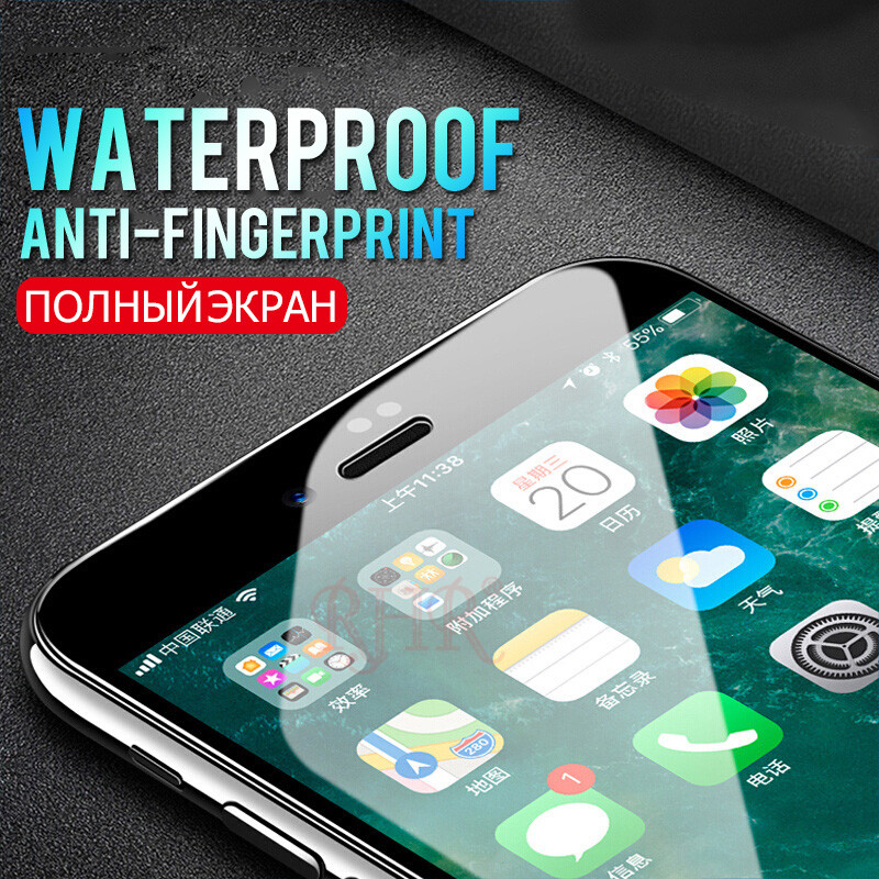 RHR 5D Protective Glass On The For iPhone 6 7 6S 8 Plus X Tempered Screen Protector Protective Glass For iPhone 6 S 8 Plus Film