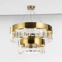 Crystal lamp Nordic chandelier living room modern minimalist golden decorative lights