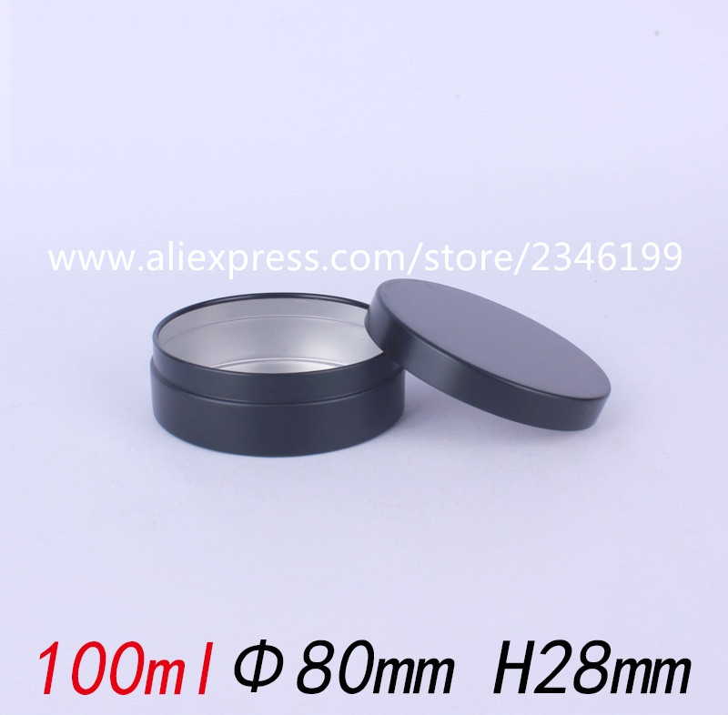 100G 100ML Matte Black Aluminum Jar Cosmetics Cream Pot Tin Cans Empty Metal Packing Container Press