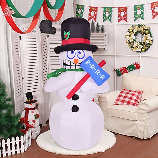 180cm Giant Inflatable Jitter Snowman Blows Up Fancy Toys Santa Claus Christmas Gifts Party Decoration Festive Event Stage Props free shipping christmas inflatable snowman model decorative 4 meters high blow up snowman replica for event party toys