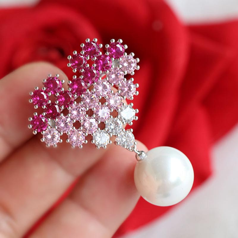 Image 3 - Red Trees Brand High Quality Winter Jewelry Female Clothing Accessories Fashion Collar Pin Women Lapel Pin Drop Shipping-in Hair Jewelry,Brooches & Body Jewelry from Jewelry & Accessories
