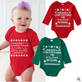 Menino romper manga longa roupas de outono bebê recém-nascido do bebê Romper Natal do bebê meninas e meninos de algodão roupas de bebê menina macacão