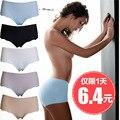 seamless panties female viscose one piece panty low-waist panties female