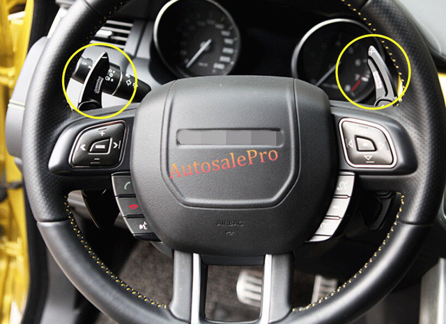 Black Color Steering Wheel Paddle Shift Extension Kits Alloy For