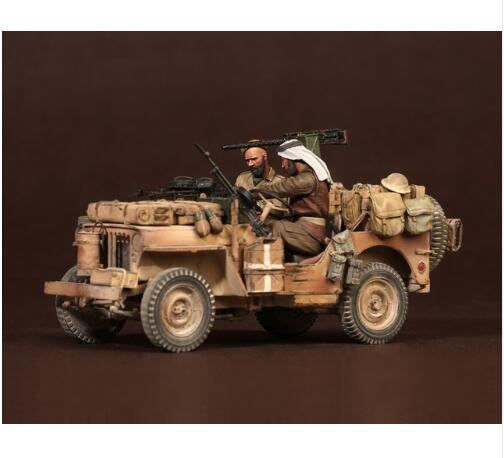 1/35 Crew Of North Africa Soldier (WITHOUT CAR )    Resin Figure Model Kits Miniature Gk Unassembly Unpainted