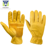 OZERO The Cowhide Sports Motorcycle Gloves Work Gloves Waterproof Anti Cold Anti Snowboard Hiking Hunting Gloves