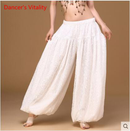 Image 4 - sexy loose unisex bloomers dance pant tribal dance harem pants two layers of white lace for men and women, free shippingbelly dance skirtbellydance skirtsexy belly dance -