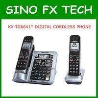 2 Yakışıklı KX-TG6641 DECT 6.0 DIJITAL KABLOSUZ YANıTLAMA SISTEMI ev kullanımı telefon deskphone kablosuz telefon TG6641 98% YENI