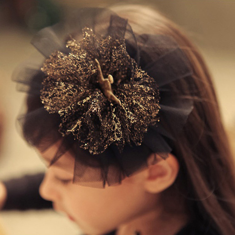 Korea Lace Flower Crown Hair Clip Princess Kids Headband Bows Hair Bands Headband Hair Accessories 4