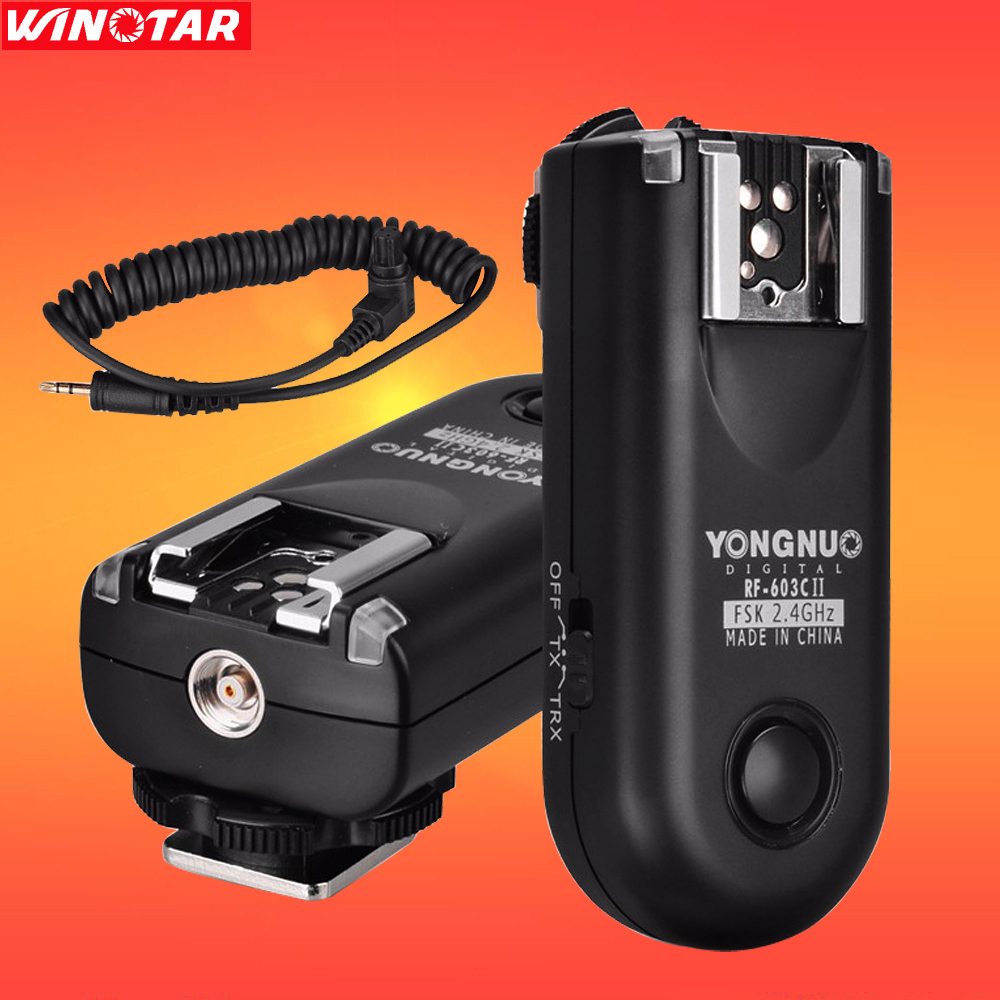 YONGNUO RF 603 II C3 Radio Wireless Remote Flash Trigger for Canon 50D 40D 7D 7D