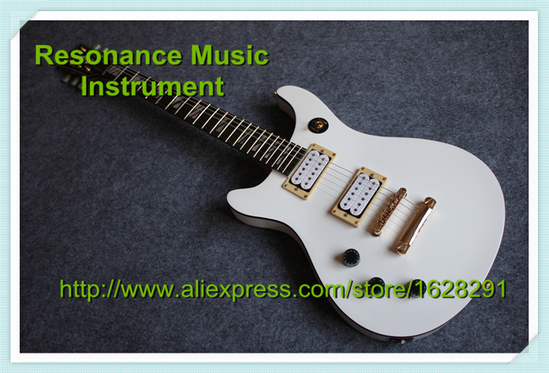 Custom Shop Left Handed LP Electric Guitar In White In Stock Other Paint Available custom shop mirror finish lp guitar electric left handed china custom guitar free shipping