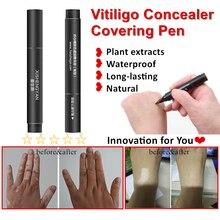 Leukoderma покрывающая ручка водостойкая Vitiligo консилер растительный жидкий экстракт для лица тела скрытый Обесцвечивающий кожи патчи макияж