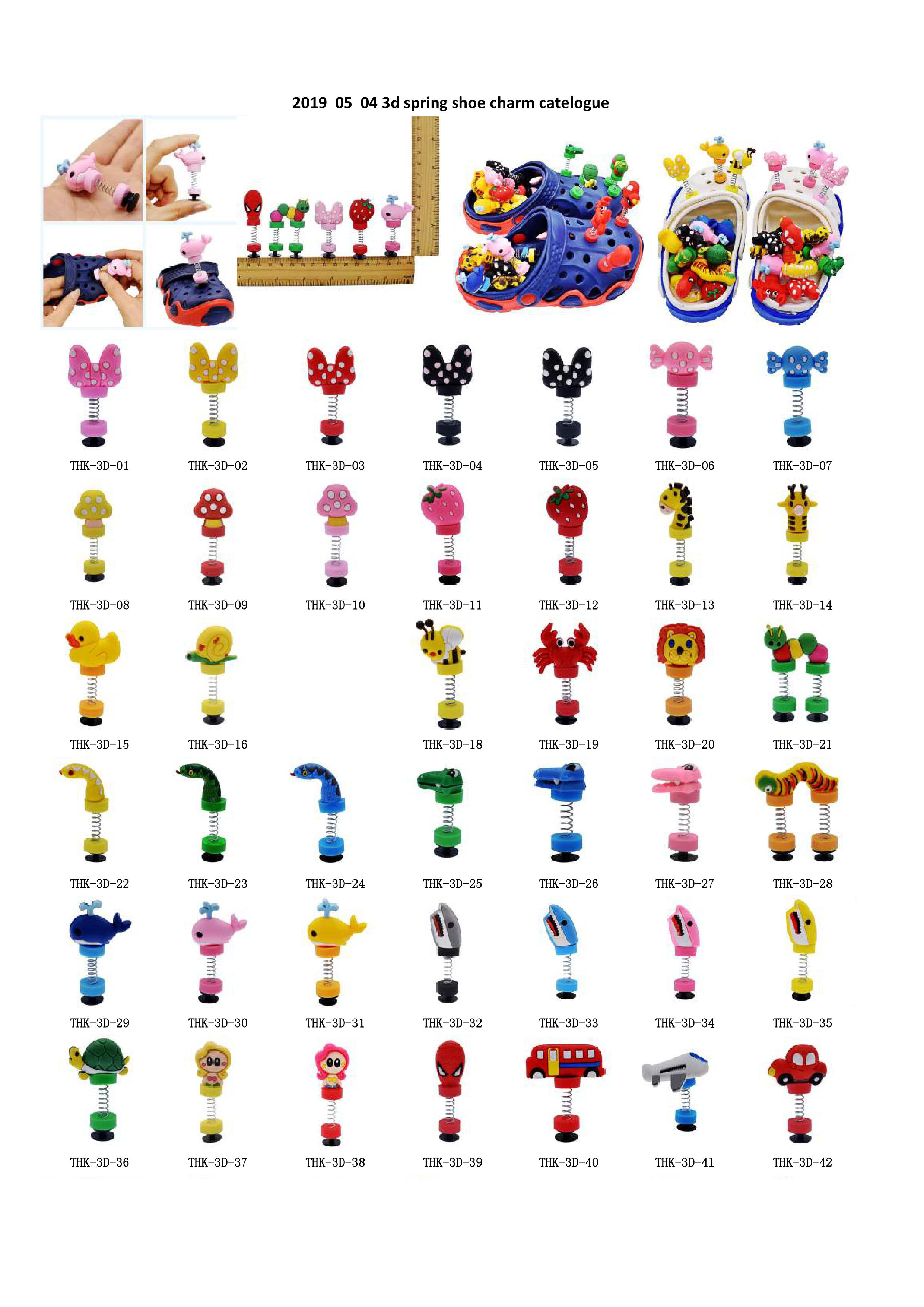 100pcs You Selected 3D Spring Shoe Ornaments Cartoon Animals Cars Bowknots Candy Sandal Accessories Boys Girls Favor Gift