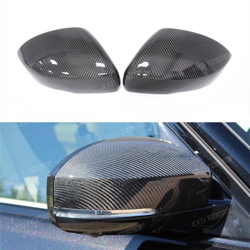 For Land Rover Mirror Range Rover Sport & Vogue Carbon Fiber Rear Mirror Cover Replacement & Add on style 2014 2015 2016 2017 + for ford mustang 2008 2009 2010 2011 2012 2013 add on style carbon fiber rear view mirror cover black finish
