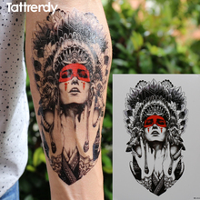 Ancient Women Keep The Tears Size 21 X 15cm Brand Body Art Tattoo Temporary Exotic Sexy Flash Henna Tattoos Stickers HB414