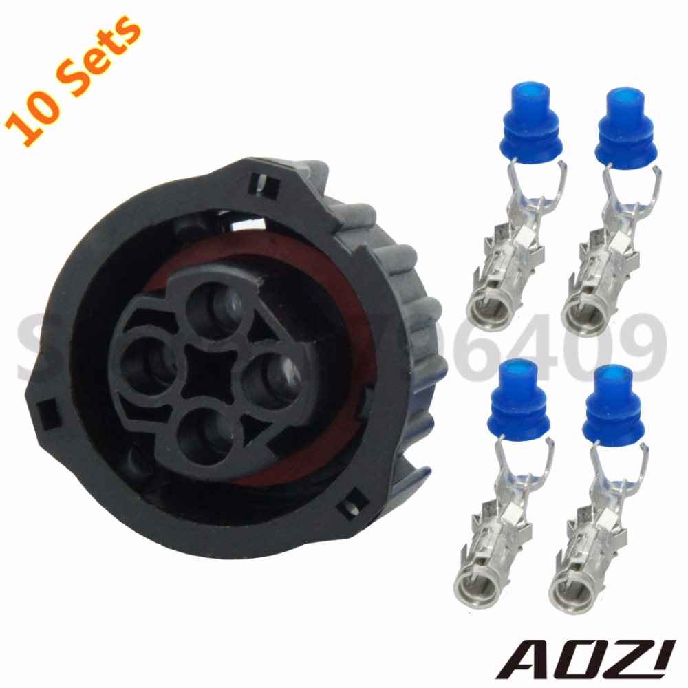 Ten Sets 4 Ways 25mm Series Adapter Auto Wire Harness Connector 1 Pcb Pin 967325 In Connectors From Lights Lighting On Alibaba Group