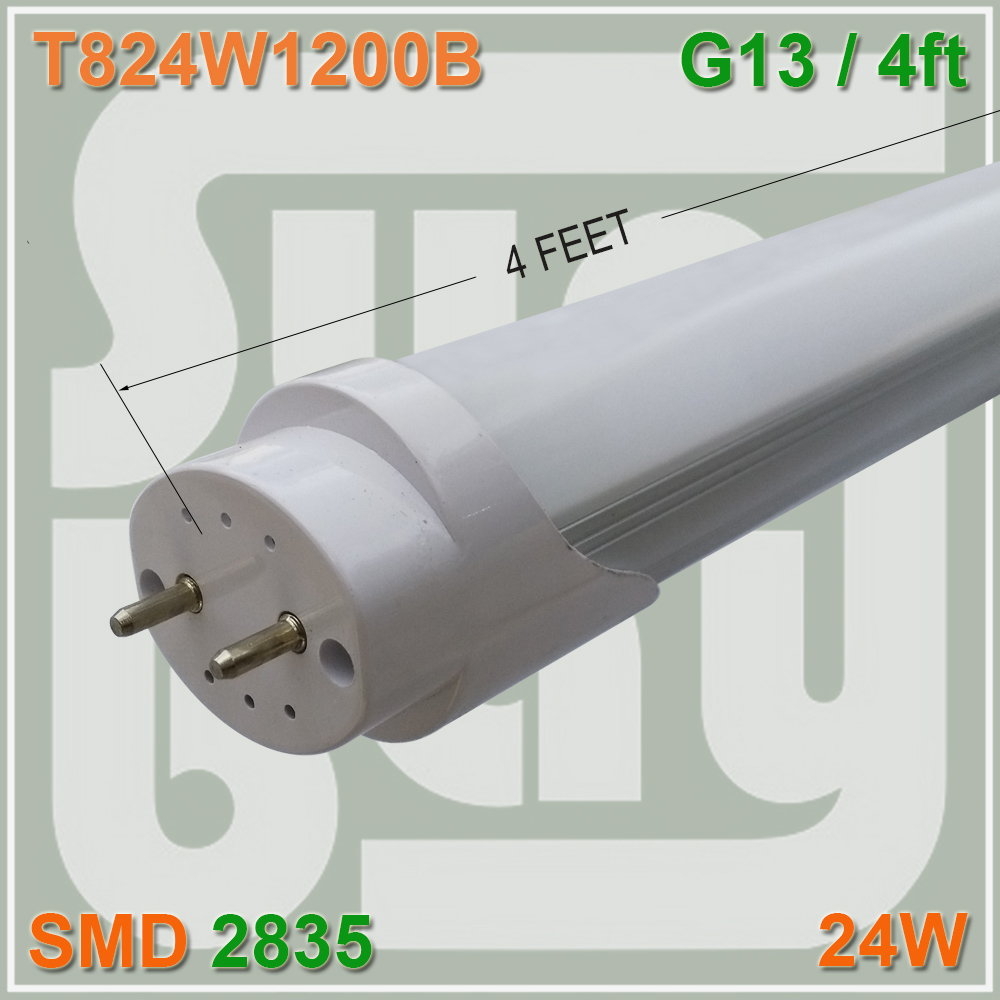Free Shipping 120leds LED Tube T8 Bulb Light 4FT 24W G13 85-277Vac Replace Fluorescent lamp 50w e27 120 leds ufo light bulb