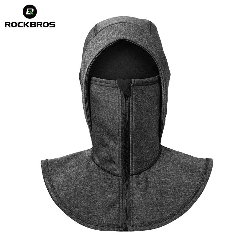 ROCKBROS Windproof Thermal Fleece Ski Headgear Skiing Bibs Snowboard Neck Warmer Face Mask Snow Sport Headwear Ski Hat Equipment