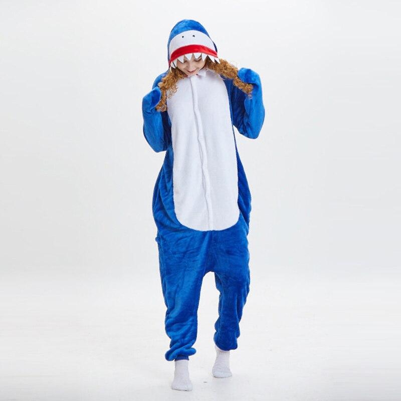 New Pyjamas Dropship Adult High Quality Shark Fleece Pajamas Animal Winter Christmas Onesies Cosplay Costumes Sleepwear Party