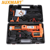 Auxmart Portable 12V Car Jack 3Ton Electric Jack Auto Lift Scissor Jack Lifting Machinisms Lift Jack Muti Function