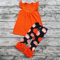 Wholesale Kids Children Clothing Boutique Outfits Little Girls Ruffle Remake Clothing Sets Halloween Outfits