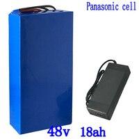 48V 500W 750W 1000W ebike bateria 48v 18ah 48V 12AH 14.5AH 15AH 17.5AH bicicleta elétrica da bateria de lítio uso da bateria panasonic celular|Bateria de bicicleta elétrica| |  -