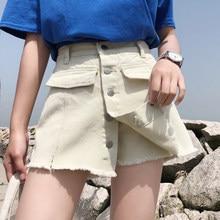 875b614ac574 Promoção de Franja Cintura Alta Shorts Jeans - disconto promocional ...
