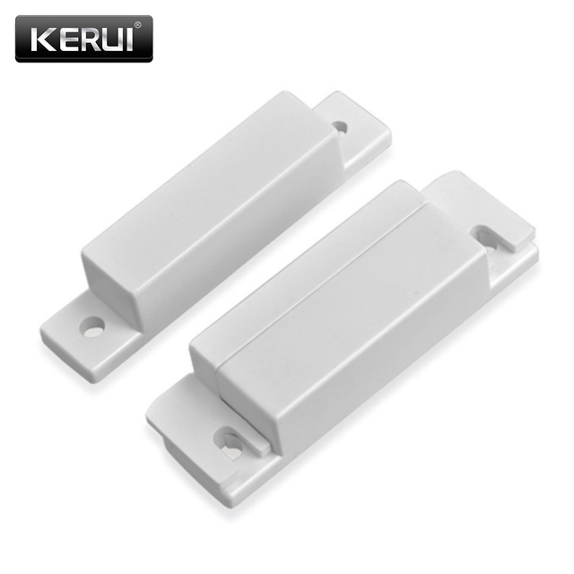 KERUI Wired Plastic Magnetic switch Door Window Open detector NC/NO optional output Alarm accessories Chest Lamp Sensor