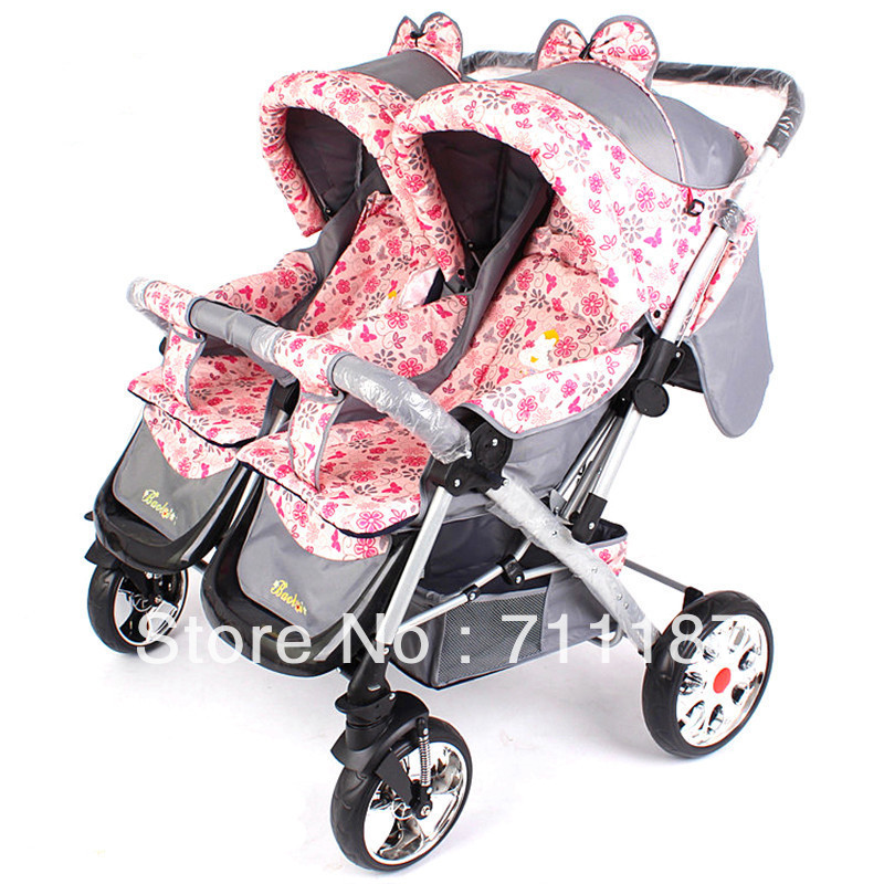 Chinese Style Double Pram For Lovely Twins Baby Stroller