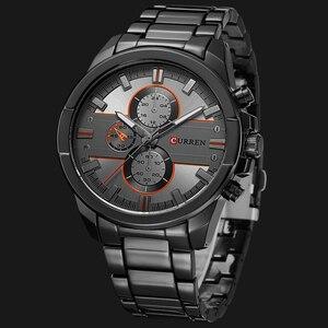 Image 3 - 新しいカレン高級ブランド腕時計男性クォーツのファッションカジュアル男性スポーツ時計フルスチールミリタリー腕時計レロジオmasculino