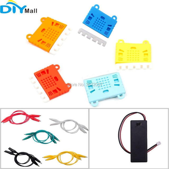 Alligator Clip Wire Battery Box Holder Protective Case Cover for BBC Micro:bit Microbit