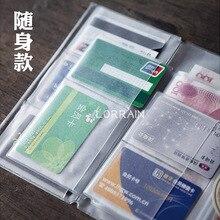 Сумка-Органайзер на молнии из ПВХ для путешествий, записная книжка, дневник, журнал, аксессуары для хранения билетов, карт, 195*165