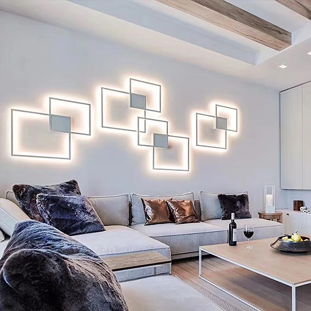 Zerouno Decorative modern LED Wall Lamp DIY background light indoor for home interior TV Wall Lights lounge living Room bedroom-in LED Indoor Wall Lamps from Lights & Lighting