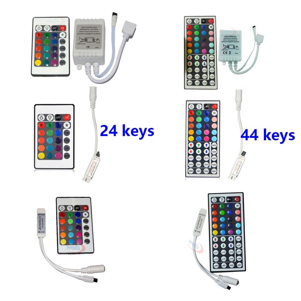 DC12V 24/44 Keys RGB Controller Remote IR Wireless Dimmer Led Controller Controle For 2835 3014 3528 5050 RGB LED Strip Light