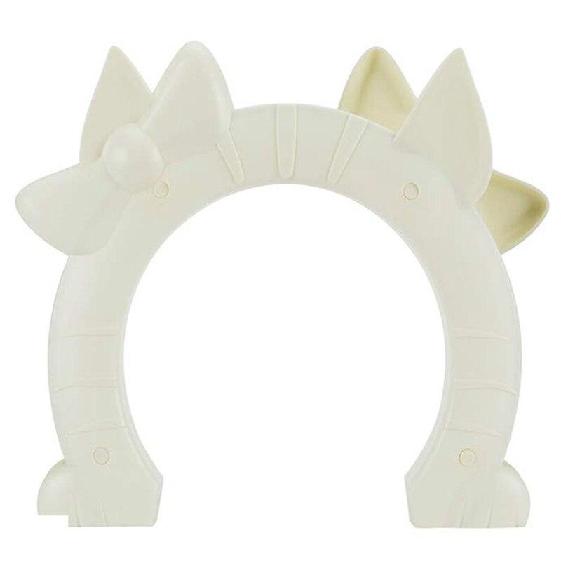 Quality Cat Door, Pet Door For Cats Interior Door 2 Way Hole Shape Pass Fits Hollow Core Glass Solid Door For Cats Up To 21 Lb