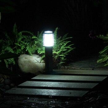 110V 220V 12V 24V Di Paesaggio Prato Spada Giardino In Acciaio Esterna Giardino Prato Pilastro Quadrato Della Luce Paletto Luminoso Della Lampada
