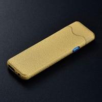 Sigarettenaansteker Oplaadbare USB Opladen Lichter Spare Elektrische Draad Vingerafdruk Touch Sensor Sigaret Accessoires-in Sigaret accessoires van Huis & Tuin op