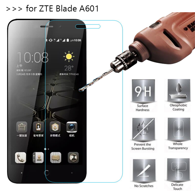 2.5D 0.26mm 9H Premium Tempered Glass For <font><b>ZTE</b></font> <font><b>Blade</b></font> <font><b>A601</b></font> <font><b>Screen</b></font> Protector protective film For <font><b>ZTE</b></font> <font><b>Blade</b></font> <font><b>A601</b></font> Glass Guard Cover image