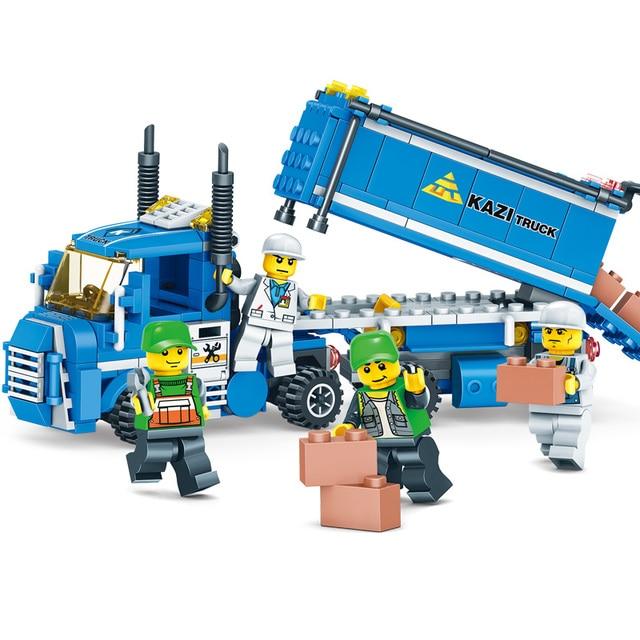 NEW 319pcs 4 IN 1 URBAN FREIGHT Building Blocks LegoINGlys City Truck Blocks Toy Bricks Educational Building Toys for Children