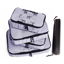 QIUYIN Waterproof Packing Bags for Suitcase Cubes Travel Luggage Organizer Durable Polyester Hand