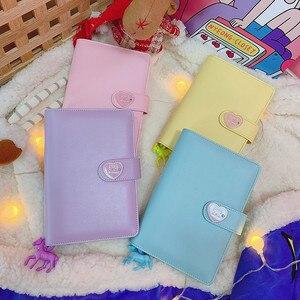 Image 2 - DIY Notebook Planer Kawaii 저널 소녀의 일기 주최자 다채로운 책 노트 학생 일일 주간 계획 편지지 선물