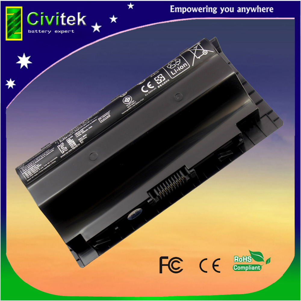 8Gel New Laptop Battery for Asus G75 3D G75V 3D G75V 3D 3D G75VW 3D G75VX A42-G75