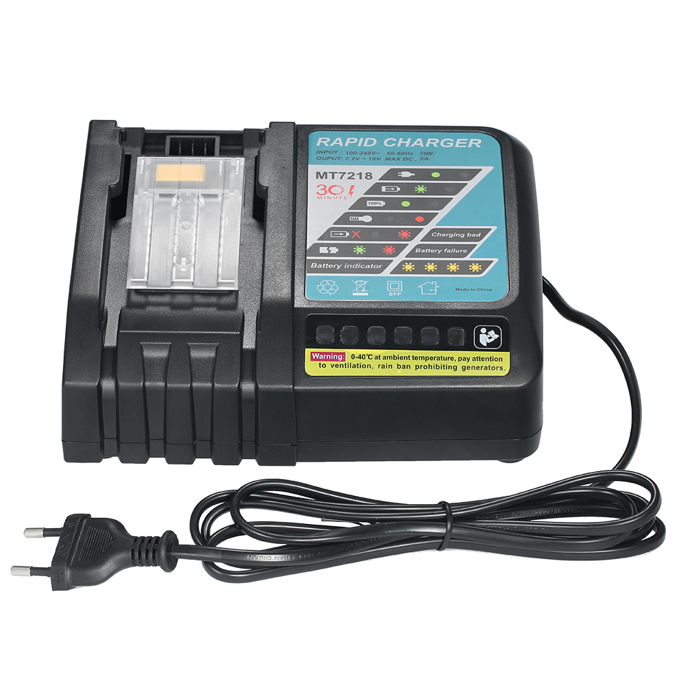3A Li-ion Battery Charger Replacement for Makita power tool Electric Screwdriver DC18R /18RA  BL1830/1815/1840/1850 14.4V-18V 1 pc li ion battery replacement charger for bosch 10 8v 12v bc430 bat411 bat412 bat413 cordless tool battery vhk20 t30