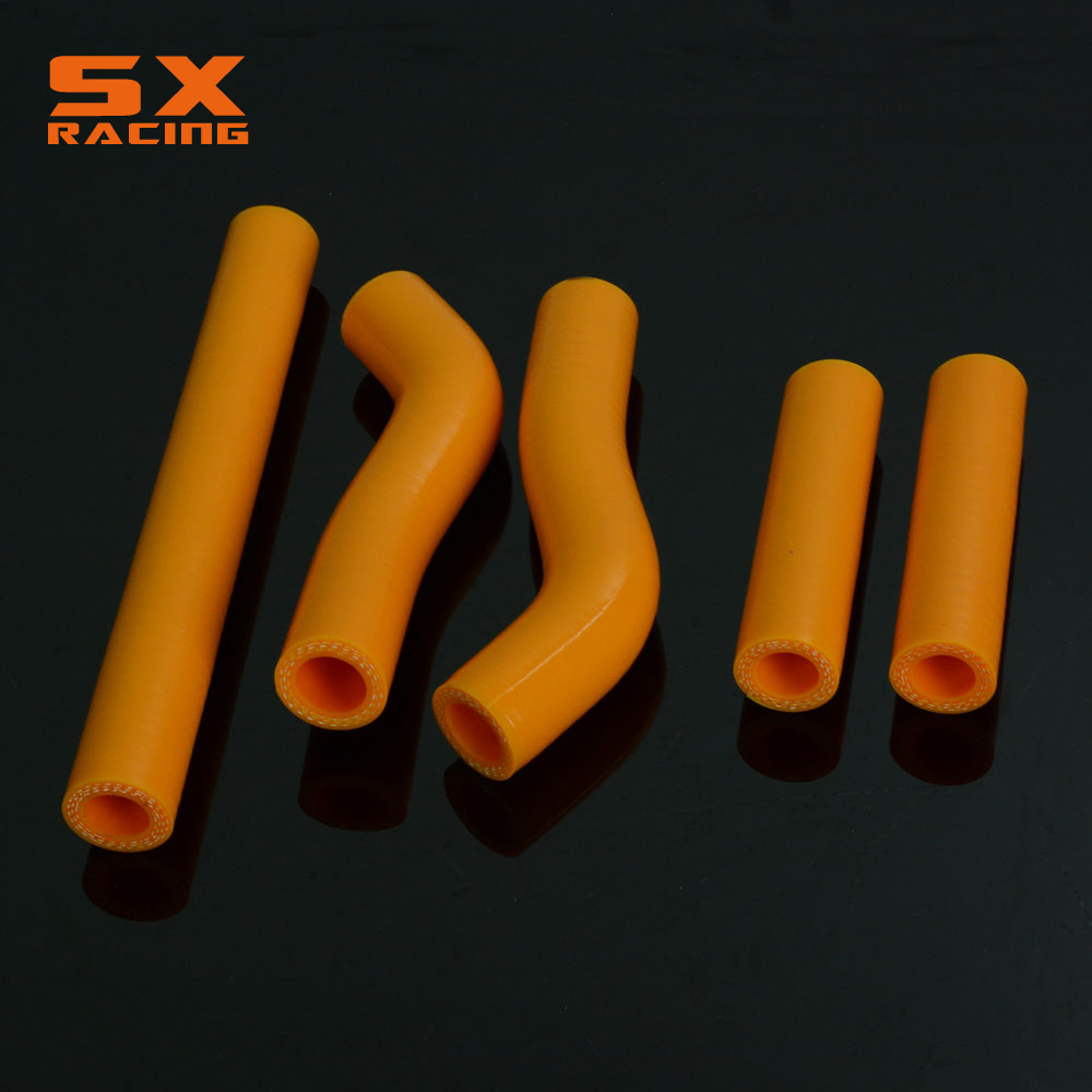 Motorcycle Orange Water Pipe Silicone Radiator Coolant Hose For KTM SXF250 SXF 250 2006  ...