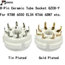 10 pcs 세라믹 튜브 소켓 pcb 마운트 8 핀 전자 튜브 좌석 kt66 kt88 6sl7 6sn7 6ca7 el34 gz34 진공관 무료 배송