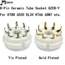 10PCS קרמיקה צינור שקע PCB הר 8 סיכות אלקטרונים צינור מושב עבור KT66 KT88 6SL7 6SN7 6CA7 EL34 GZ34 צינור ואקום משלוח חינם