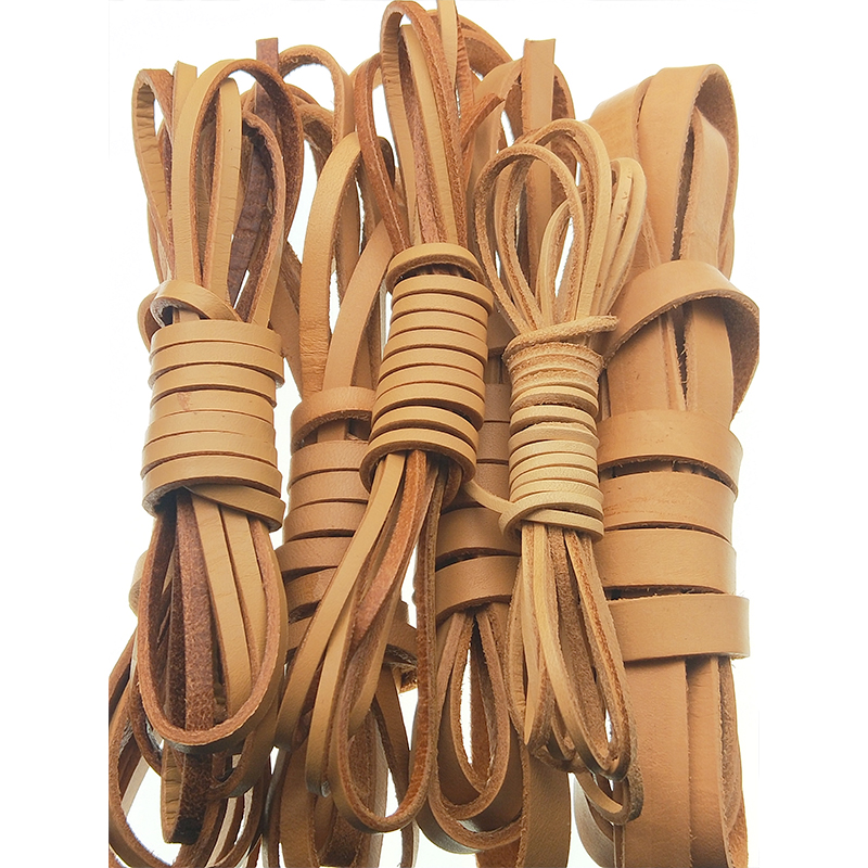 2meter/lot 2-20mm Flat Real Genuine Leather Cord Jewelry Findings Cords Strings Thread For Necklace Bracelet DIY Jewelry Making